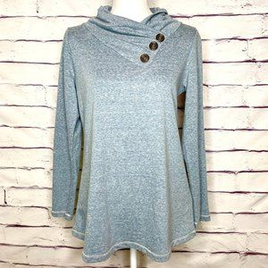 Soft Surroundings Light Blue Long Sleeve Pullover